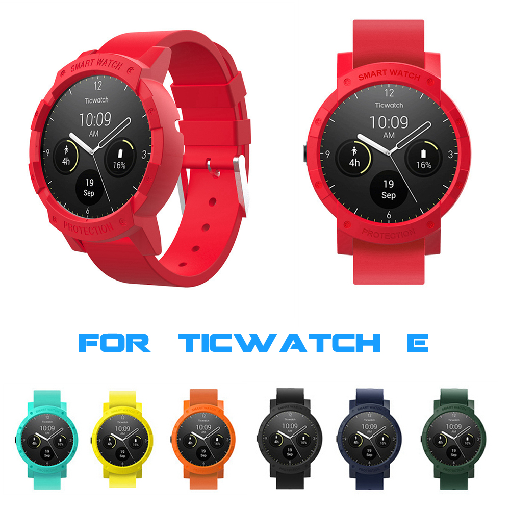 For Ticwatch E Smart Watch Protective Case Dial Cover Protector Shell For Tic Watch E Sport Watches Accessories