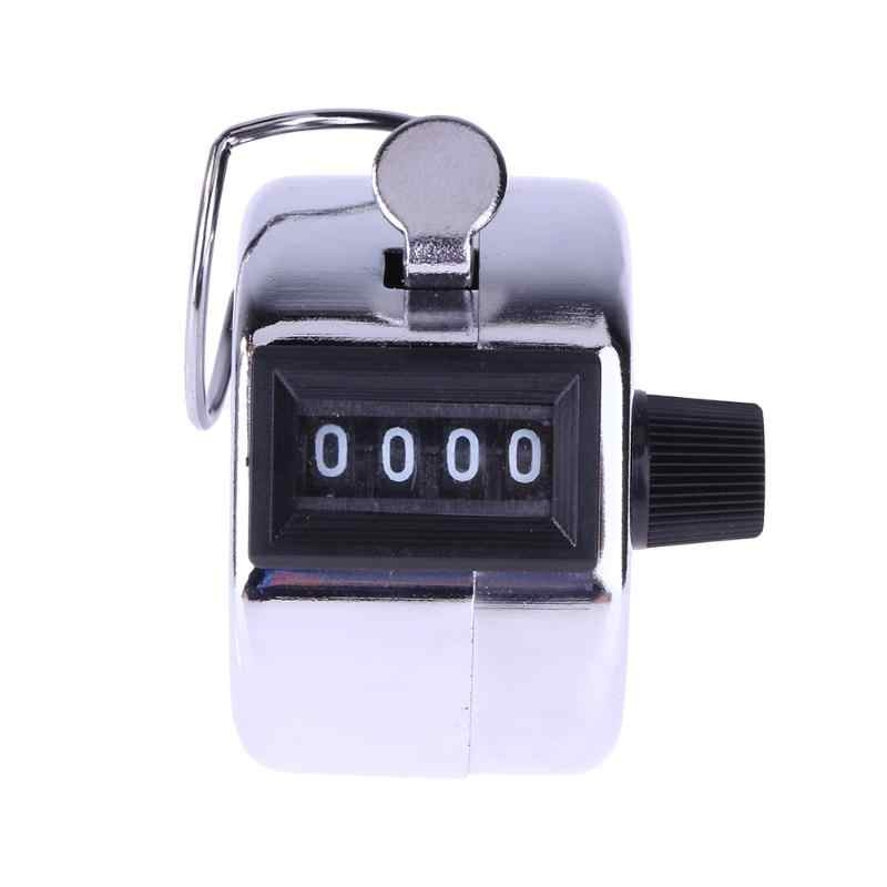 Mini Digital Hand Tally Counter Manual Menghitung Golf Clicker Logam Digital Hand 4 Digit Nomor Tally Counter Pelatihan Gratis