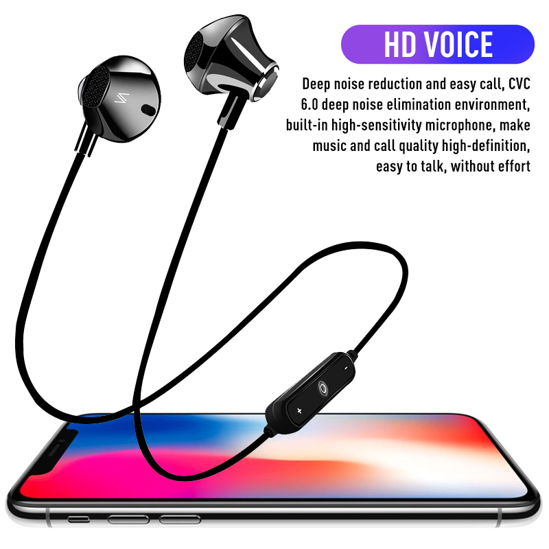 Bluetooth Movement Headset Magnetic Attraction Wireless Headset Sports Stereo Music Earphone For iOS font b Android