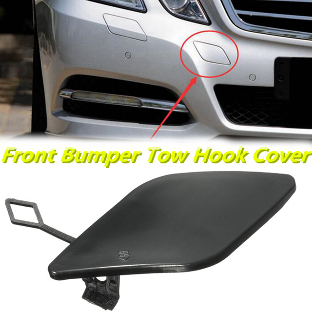 Front Bumper Tow Hook Cover Trailer Towing Hook Cap 1248800005 Fit for Merc-edes Be-nz E‑Class W124