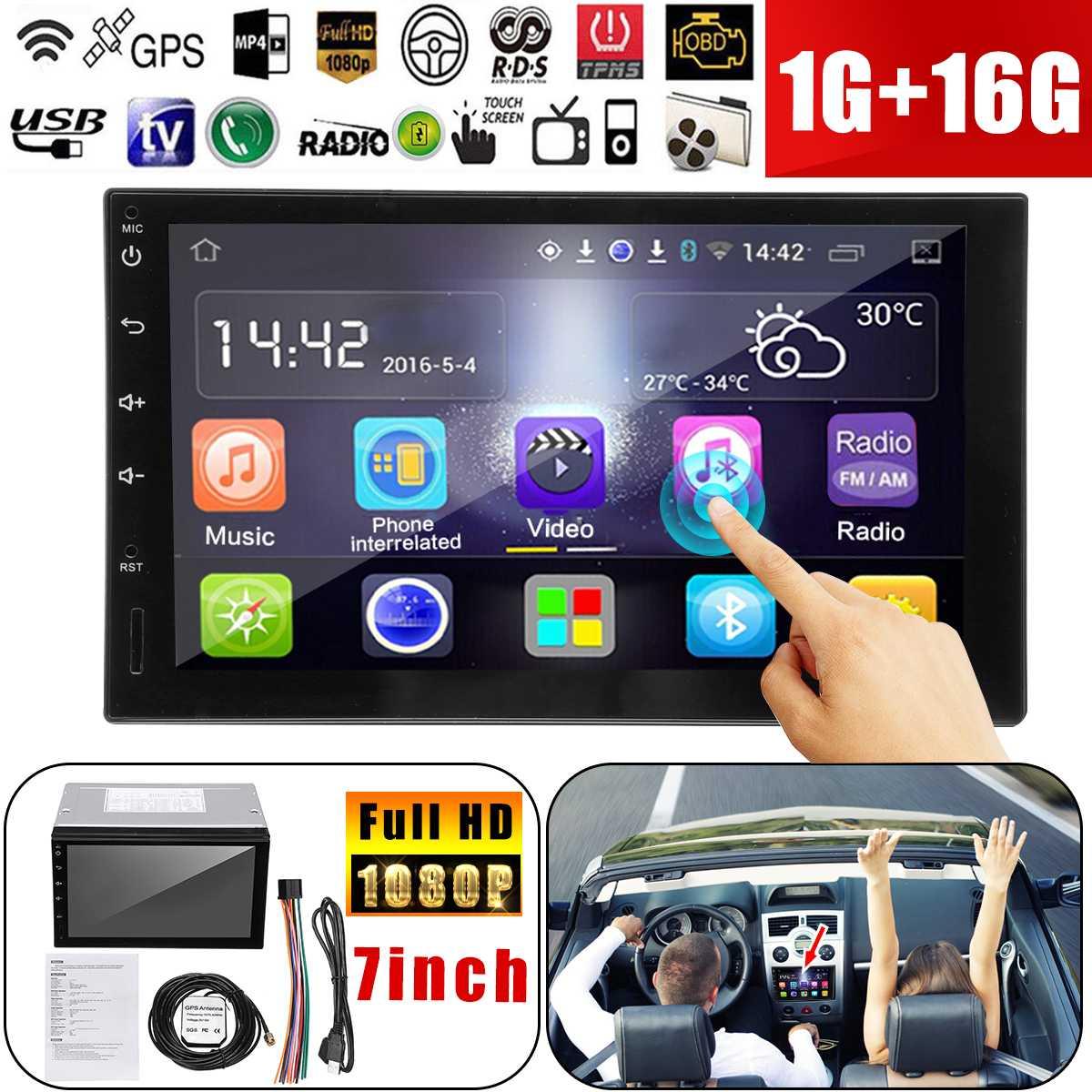 Autoleader 7 ''Android автомобилей Радио Стерео gps навигации Bluetooth USB SD 2 Din Автомобильный мультимедийный плеер аудио плеер авторадио