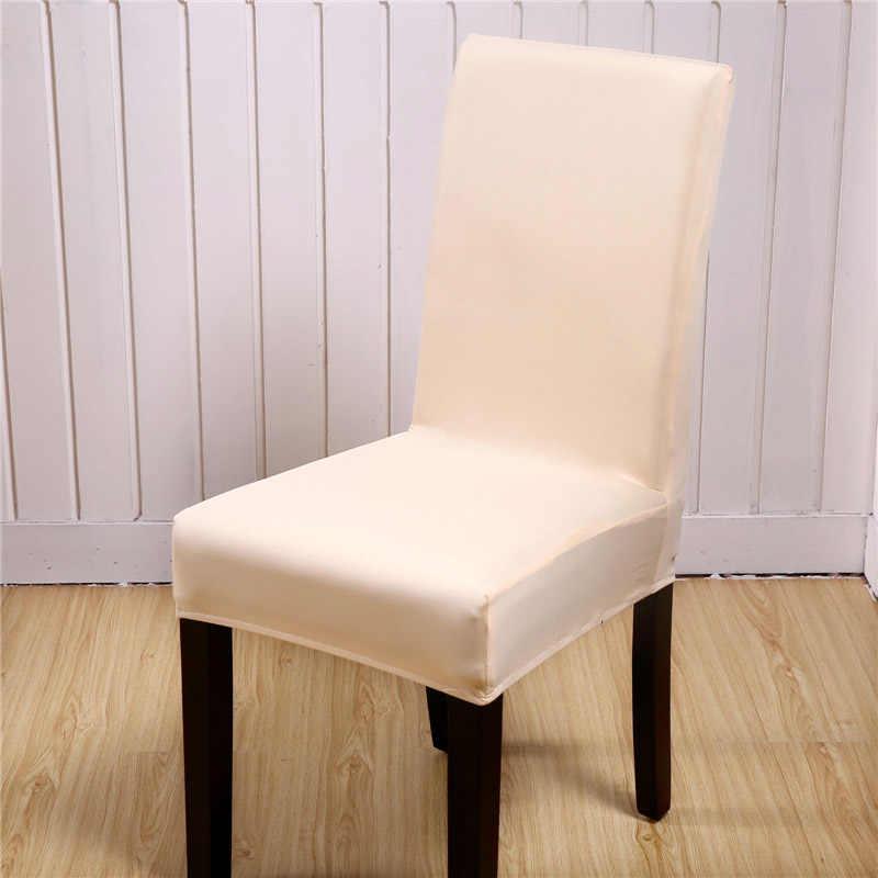 Сплошной цвет чехол для свадебного стула спандекс для столовой полностью обернутый Банкетный офис отель чехлы для стульев эластичный