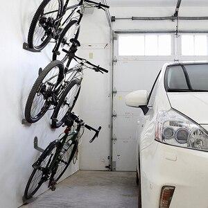 Image 1 - Portabiciclette nero portabiciclette pedale lucchetti supporto da parete per pneumatici supporto da parete per bici supporto per appendiabiti supporto per bicicletta