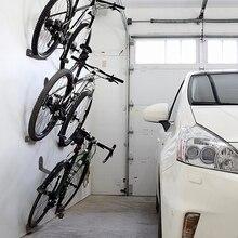 Zwarte Fiets Rack Fietsen Pedaal Hangsloten Houder Band Muur Mount Bike Muur Ondersteuning Opslag Hanger Stand Fiets Accessoire