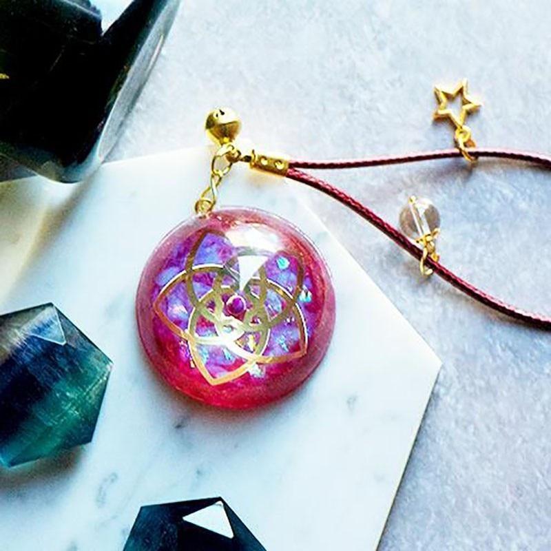 AURA REIKI Orgonite Venus Love Pendant Help Marriage Energy Crystal Pendant Reiki Radiation Protection Jewelry Girl Friend Gift