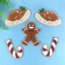 Stickers Embroidery-Patches Decoration Appliques Kids Cane for Gift Christmas-Turkey