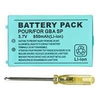 OSTENT 850mAh batería de iones de litio recargable + Kit de paquete de herramientas para Nintendo Gameboy Advance GBA SP