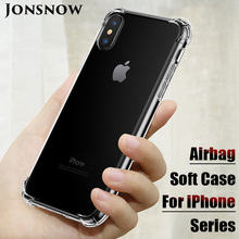 JONSNOW Shockproof Case for iPhone 5 5S SE 6 6S 7 8 Plus Soft Clear Cover X XR XS Max Silicone Luxury Phone Back