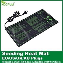 EU/US/UK/AU Plug Seedling Heat Mat Plant Seed Germination Propagation Clone Starter Pad Waterproof Garden Supplies Greenhouse