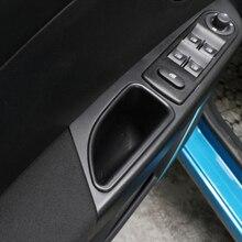 2x ABS автомобиль внутренняя передняя дверь коробка для хранения держатель черный для Renault Captur 2014-16
