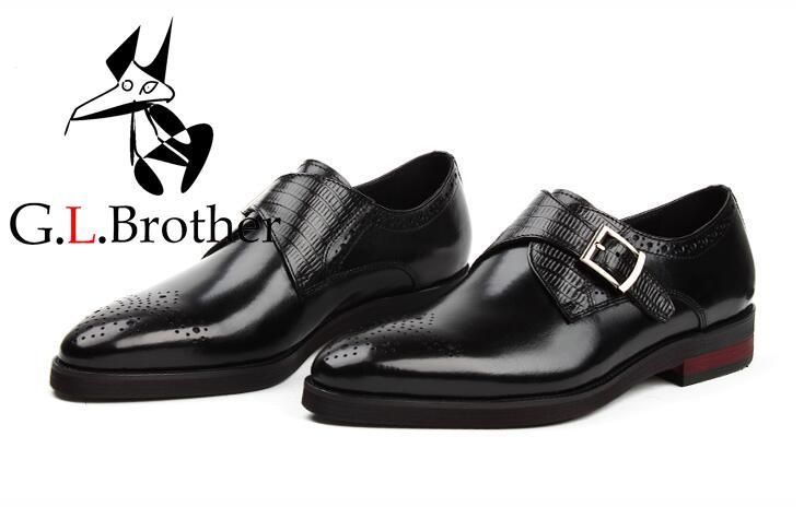 New Imitate Dress Shoes Men Buckle Strap Genuine Leather Carved Brogue Smart Casual Wedding Shoes Pointed Toes Italy Oxfords цена и фото