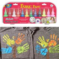 Adult Children Creative Fabric Paint 12 Color Hand painted T shirt Non Dyed Dye Suit Art Supplies Drop Ship
