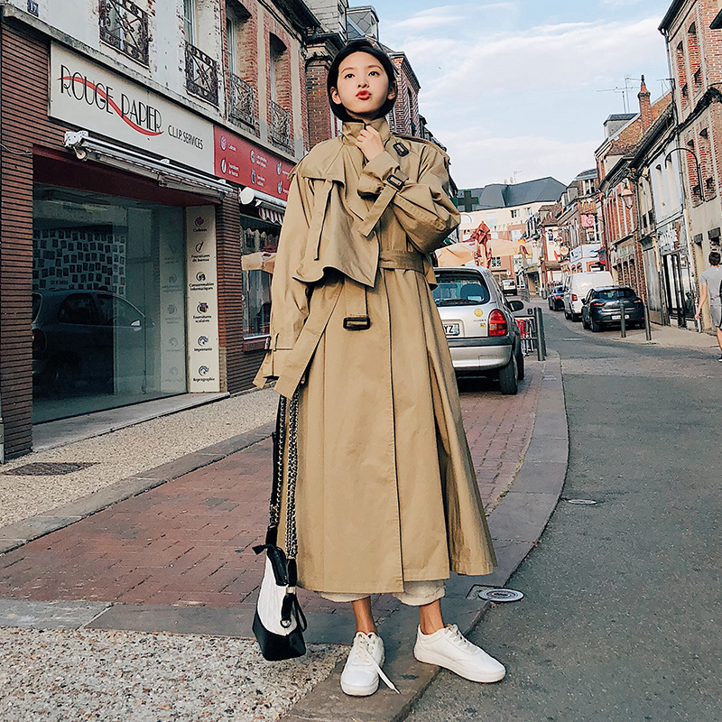 Fashion women comfortable warm solid long coat new arrival good quality loose korean temperament outerwear holiday sweet trench