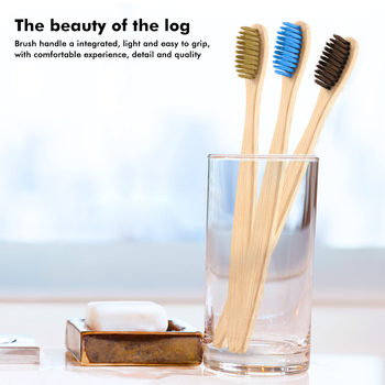 1Pcs Adult Bamboo Toothbrush Eco Friendly Tooth Brush Wood Handle Natural Flat Soft Bristle Travel Toothbrush Oral Care