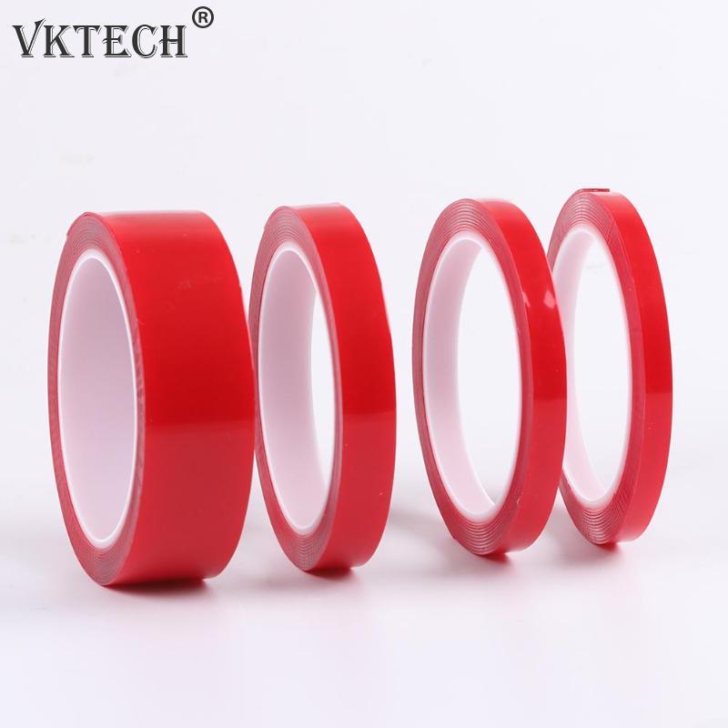 8 mm x 3 m cinta de reparaci/ón de coche para la industria Cinta de acr/ílico para coche resistente al calor doble cara color rojo auto y hogar