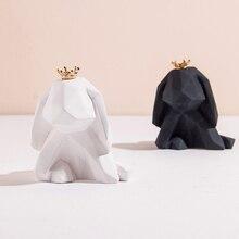 Пресс-формы для гипса геометрический зайчик Кролик Силиконовый форма подходит для изготовления эфирного масла духи гипсовый аромат Свеча Плесень