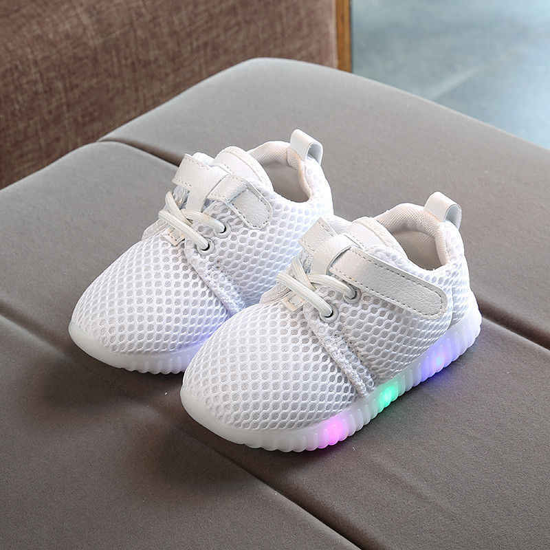 Luminous Sneakers Kids Light Up Shoes Children Led Slippers Toddler Shoes Baby Boys Girls Shoes Size 21-25