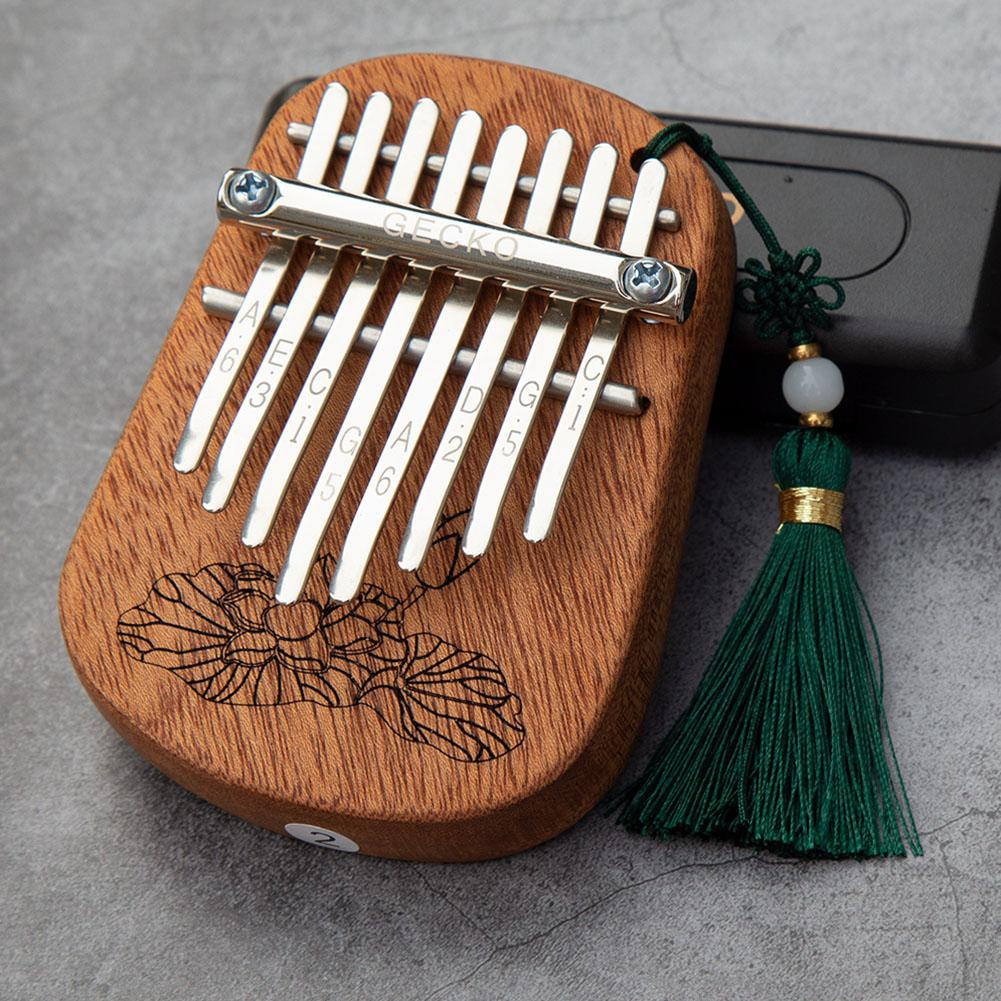 GECKO 8 Key Mini Kalimba African Camphor Wood Mahogany Thumb Piano Finger Percussion Keyboard Mbira Sanza Musical Instrument