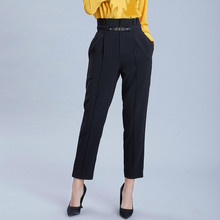 Women Harem Pants 2019 Spring Summer High Waist Ladies Office Trousers Casual Female Ankle-Length Pants Elastic Pantalones Mujer 2019 women cotton linen high waist harem pants vintage casual elastic waist loose ankle length pants trousers pantalones