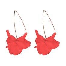 Fashion Resin Flower Long Earrings Cute/Romantic 2019 New Designs Bohemia Handmade Petal Dangle