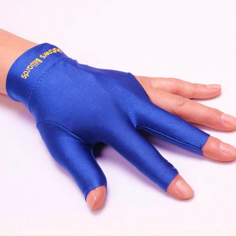 High Elasticity Gloves For Billiard Players Snooker Special Billiard Professional Non Slip Three Finger Gloves Unisex All Season