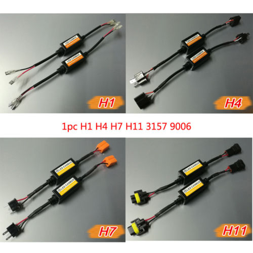 1x H1 H4 H7 H11 3157Car LED Decoder Canbus Error Free Resistor Canceller 12v Connectors