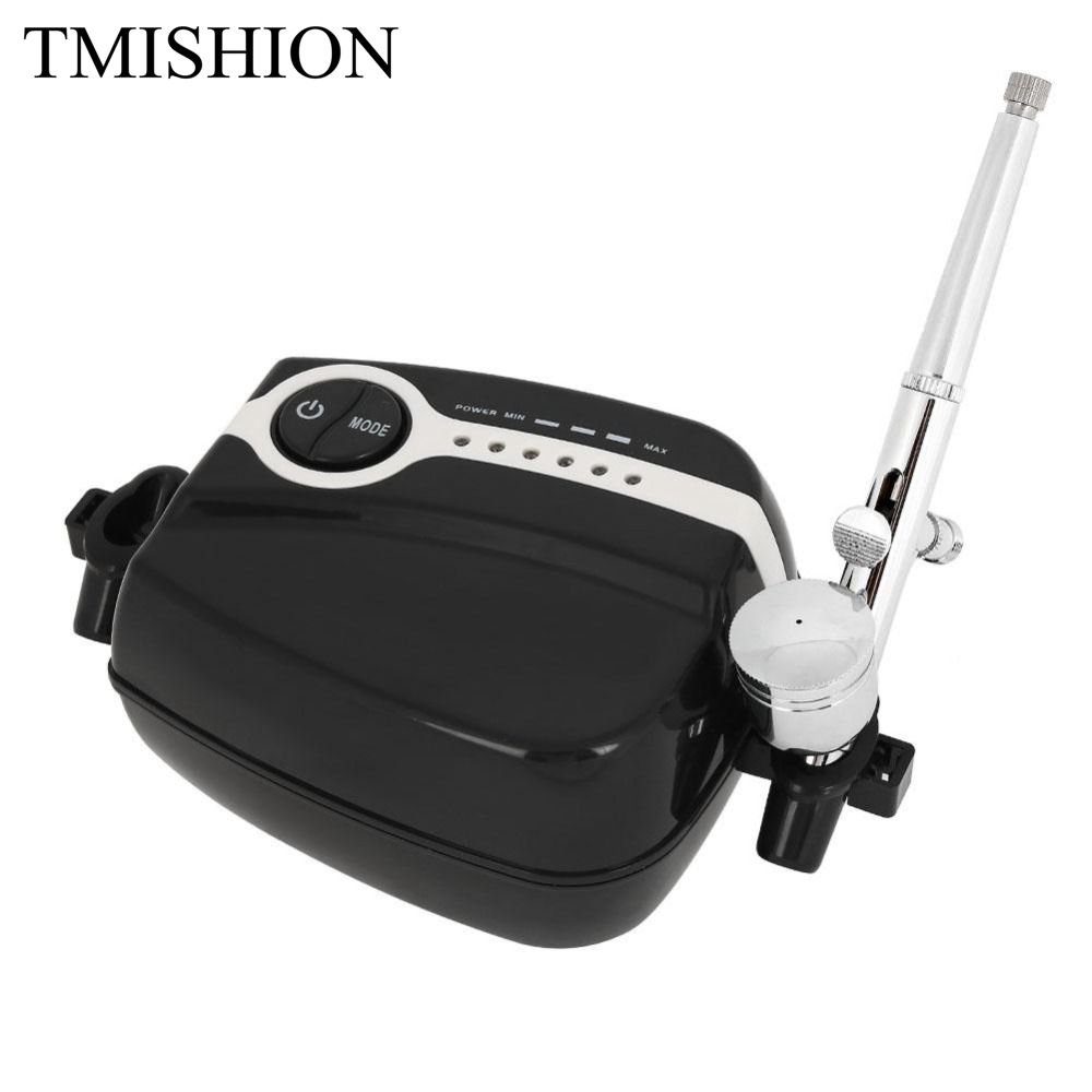 0 2 0 5mm Airbrush Makeup Kit with Mini Air Compressor Tattoo Face Body Paint Airbrush
