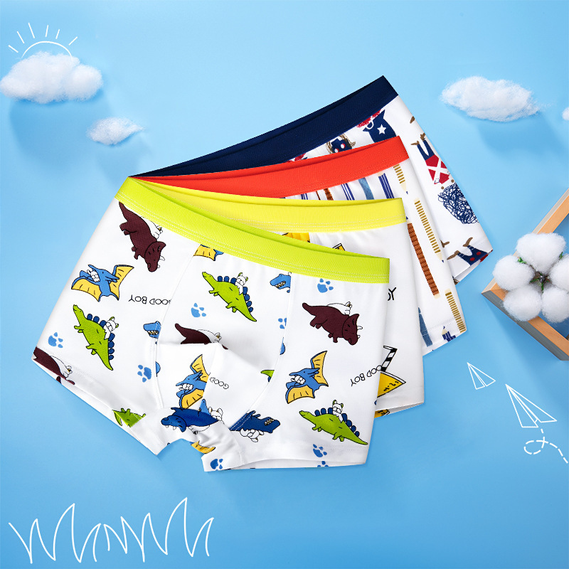 Catamite Underpants Straight Angle Pure Cotton Children Underpants Schoolboy Four Angle Underpant Baby In Will Child Shorts