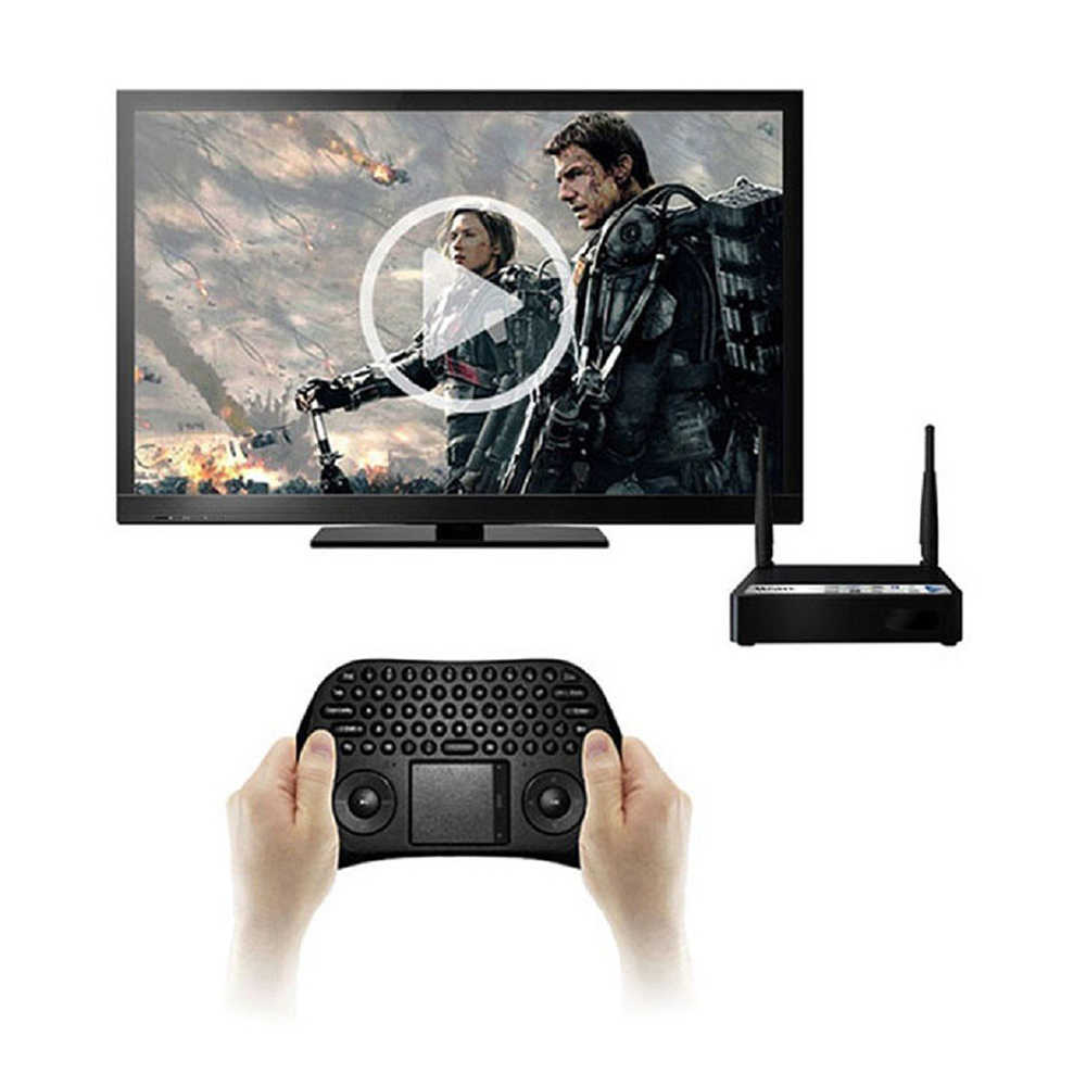 Measy GP800 2.4 GHZ Wireless Gaming Keyboard Smart Udara Mouse Tochpad Remote Control untuk Android TV Box/Laptop/ tablet PC