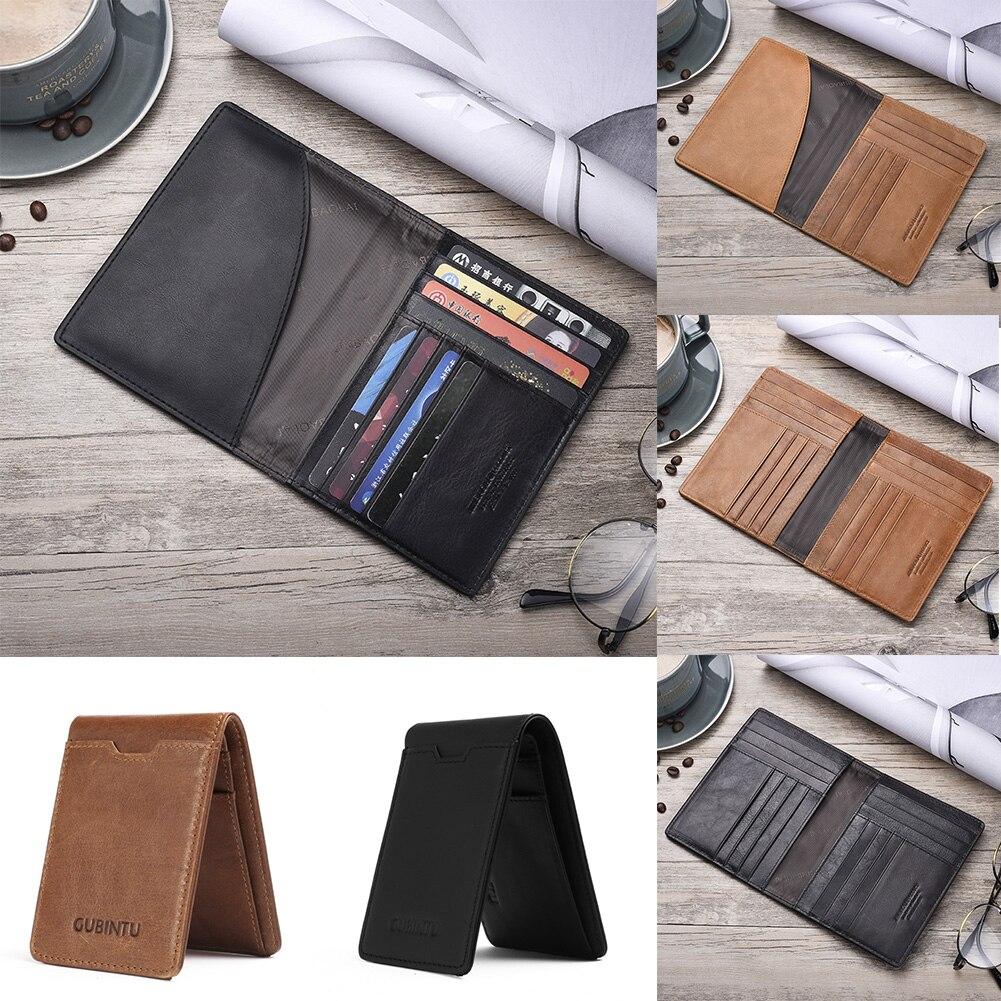 Mode Leder Passport Soft Cover Neue Männer Reisepass Einfarbig Einfache Reisepass Abdeckung Karte Halter Produkte HeißEr Verkauf