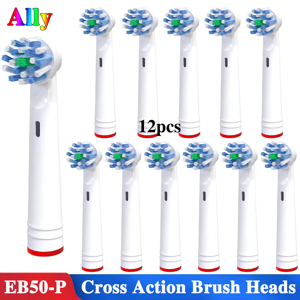 12pcs Electric Toothbrush Heads Replacement Brush Heads For Oral B Triumph Vitality OC18 OC19 Cross Action Toothbrush Heads