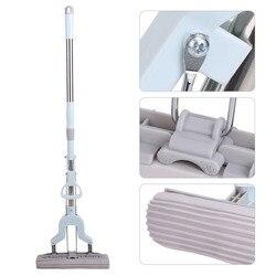 Teleskopowy uchwyt chłonne mop z gąbką do czyszczenia podłóg w domu narzędzie ze stali nierdzewnej