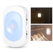 LED Mini Under Cabinet Light With Motion Detection For Kitchen Cupboard Shelf USB Stairway