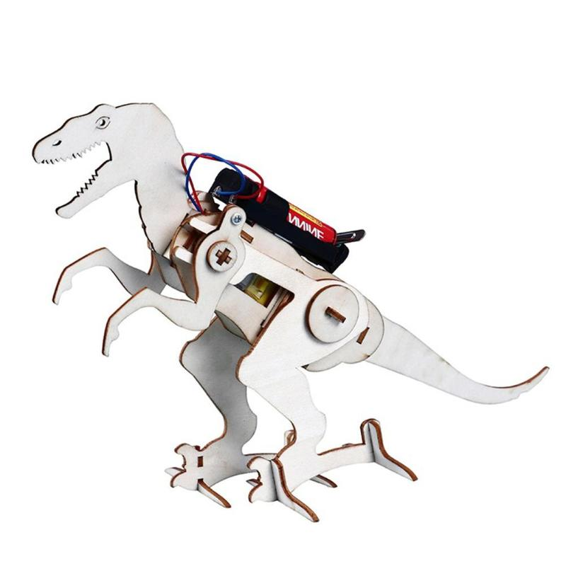 Kids Creative Education Wood Science Toys Crawling Dinosaur Assembled Model Science Experience Toy Kid Ability Development Gifts