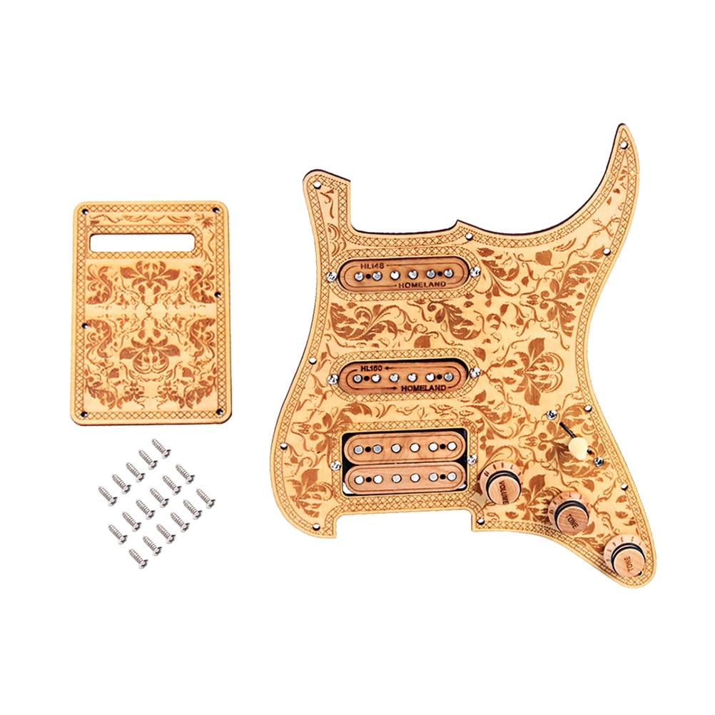 GP115 micros double Alnico V en bois d'érable pour accessoires de pièces de guitare Strat