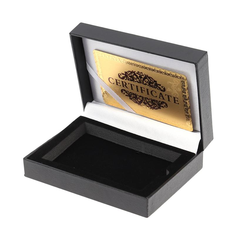 Playing Card Storage Box PU Poker Holder Case Table Games Accessory Without Cards (Black Color Random Card)