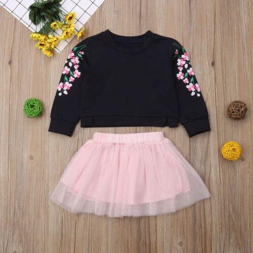 US Holiday Kids Baby Girl Tutu Dress Tops+Pants 2pcs Outfits Set Clothes 6M-5T