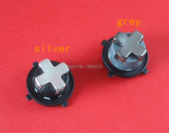 Chrome Silver Grey With Black Base Transforming DPAD D Pad Button For XBOX 360 Controller