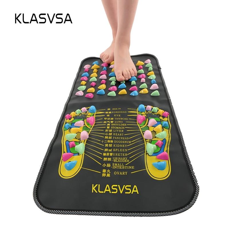 KLASVSA الصينية التفكير المشي حجر الألم تخفيف القدم الساق مدلك حصيرة الرعاية الصحية العلاج بالابر