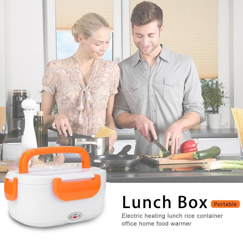 110V Portable Electric Heating Lunch Box Food-Grade Food Container Rice Cookers Meal Food Warmer for Home Car Office Multicooker