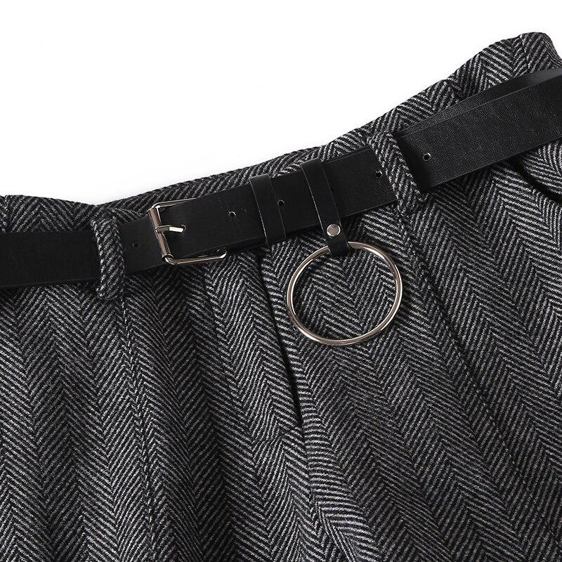 Mujer Ol Nuevo Cinturón Temperamento Gratis 2xl De Lápiz Gray Marca Otoño Slim Lana 2019 Gris Pantalones Primavera Mezcla Pg8qzC