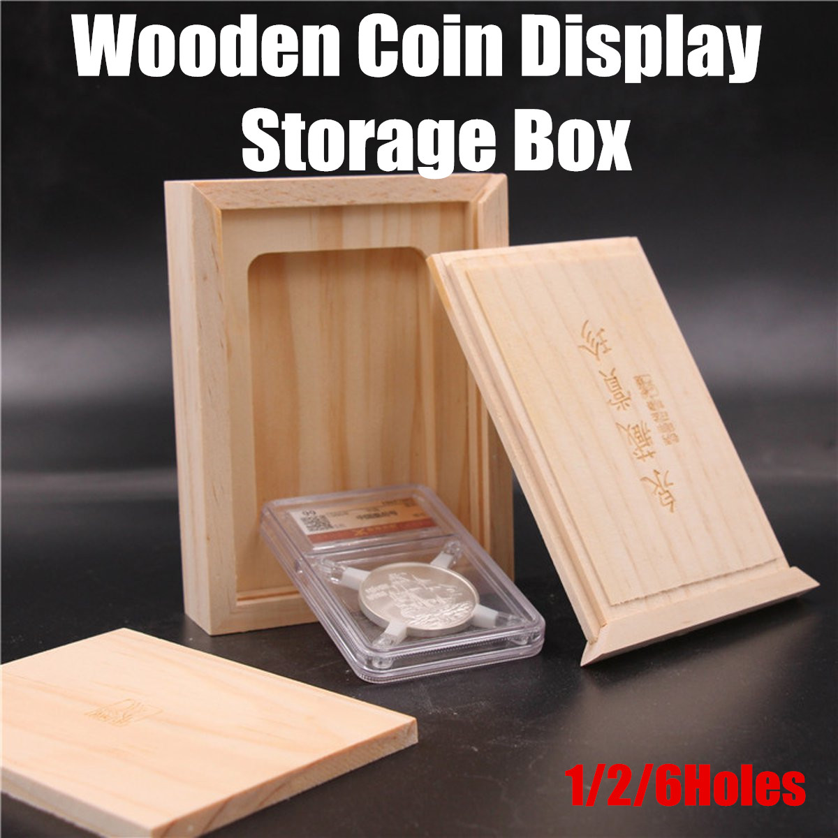 US $6 27 43% OFF|Zodiac Commemorative Coin Wooden Storage Boxes Collector  NGC ICG Protection Coin Gifts Slab Display Cases Cabinet Holder-in Storage
