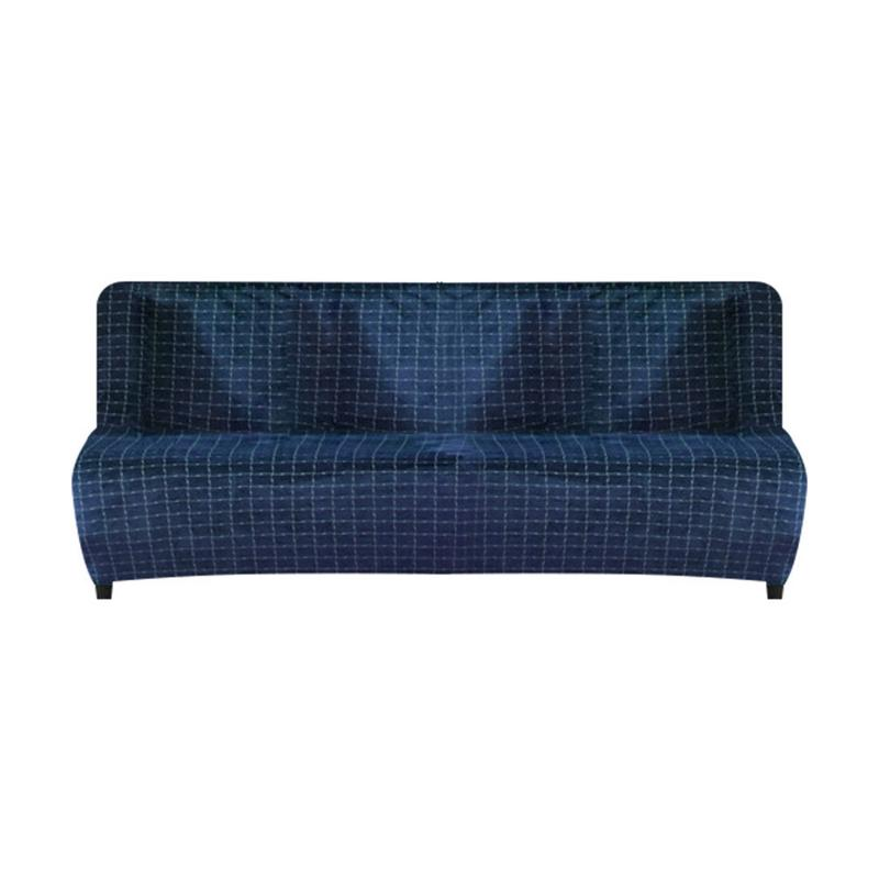 3pcs Stretch Sofa Couch Bench Seat Cushion Slipcover Cover Protector Blue