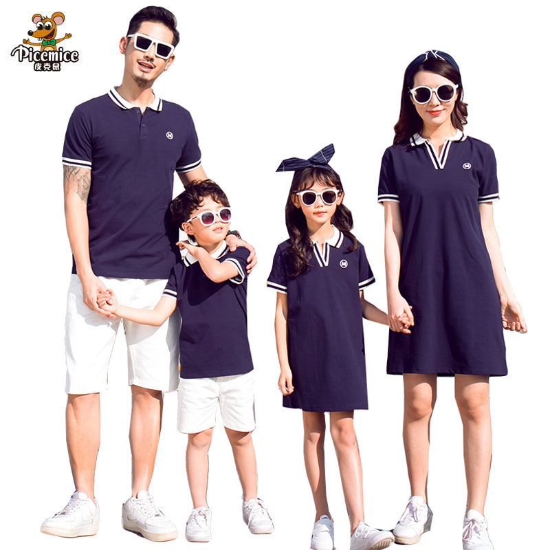 Family Clothing Mother Girl Dresses Summer Father Son T-Shirts Short Pants Family Matching Outfits Mother Daughter Girl Dress girl