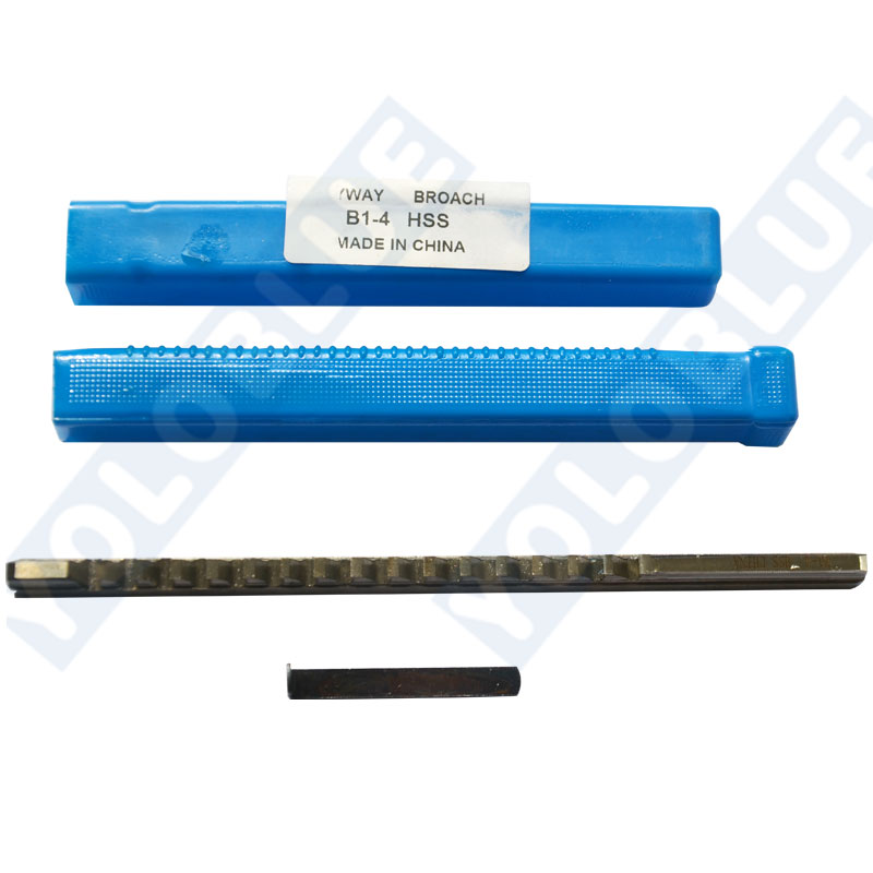4mm B1 Push-Type Keyway Broache Metric Size HSS Keyway Cutting Tool For CNC