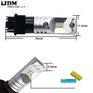Image 2 - 6000K biały 6 SMD zasilany przez Luxen LED 3157 3357 3457 4114 LED żarówki dla 2011 up Jeep kompas dla światła dzienne 12V