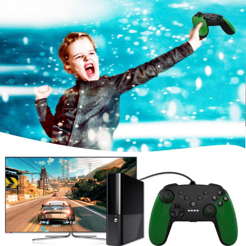 USB Wired Controller Gamepad Game Handle for Microsoft Xbox One PC Computer Racing car Game Handle Children Game Joystick image