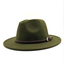 2019 New Winter Autumn Wool Women Men Belt Ladies Fedoras To