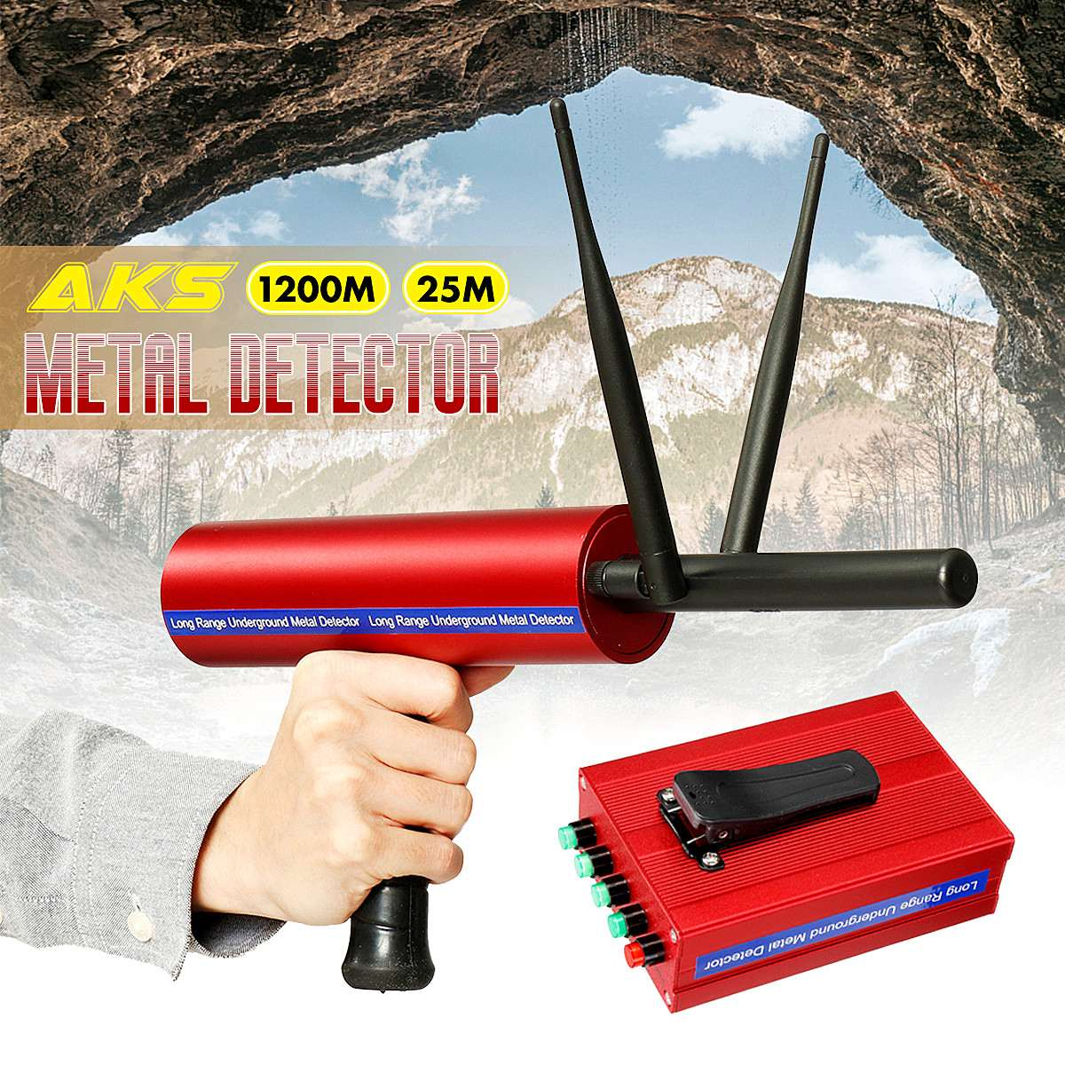 Newest Metal Detector Underground 25m Gold Silver Gold Diamond Detector Dual Antenna Long Range Portable Treasure Finder Seeker