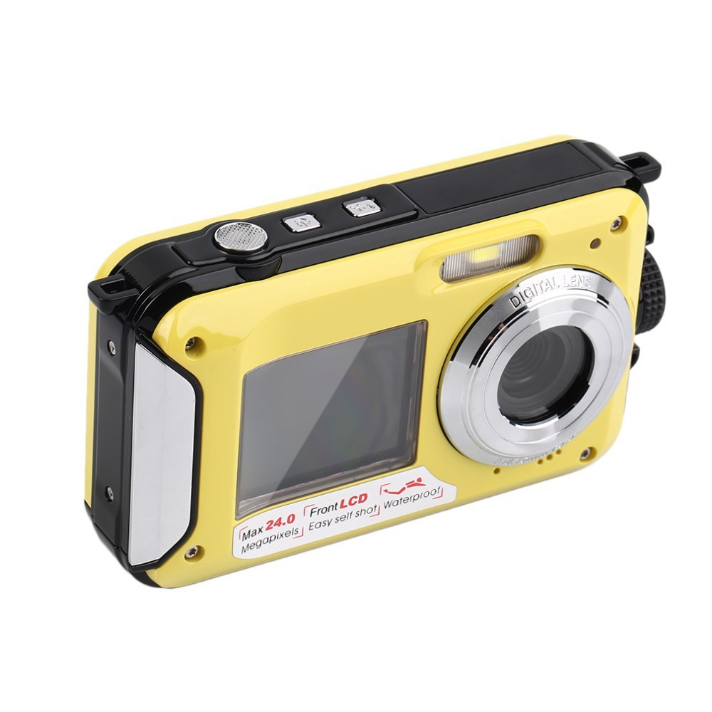 Camcorder DHL MAX 1080P Waterproof 20pcs H268 4-Colors Digital-Camera DV 16x-Zoom Double-Screen